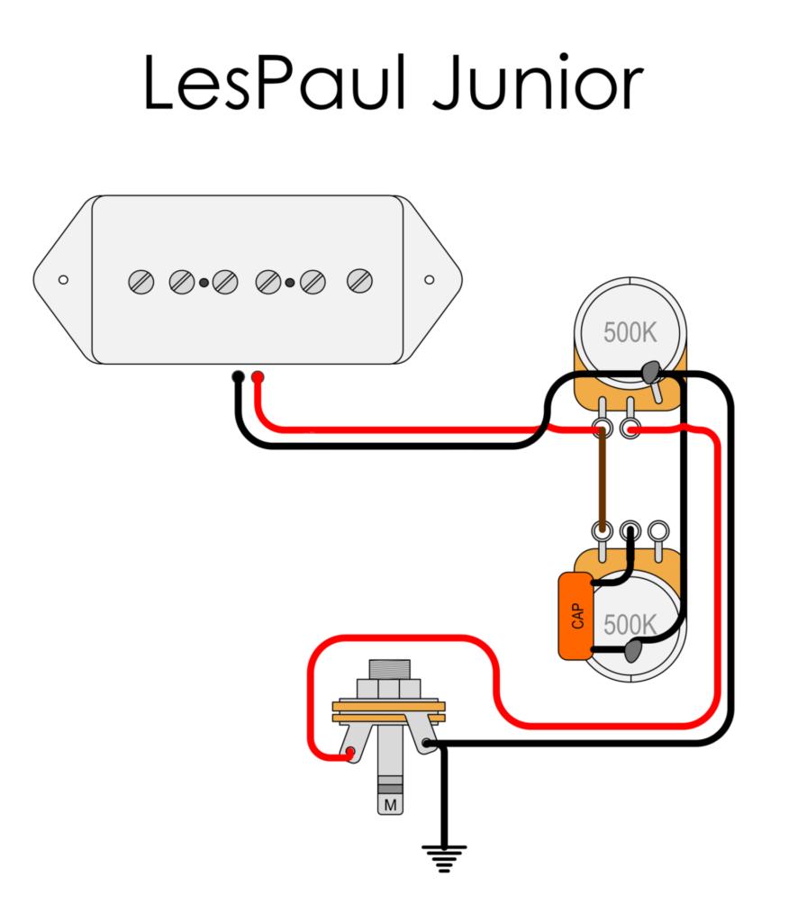 Les Paul Jr wiring diagram