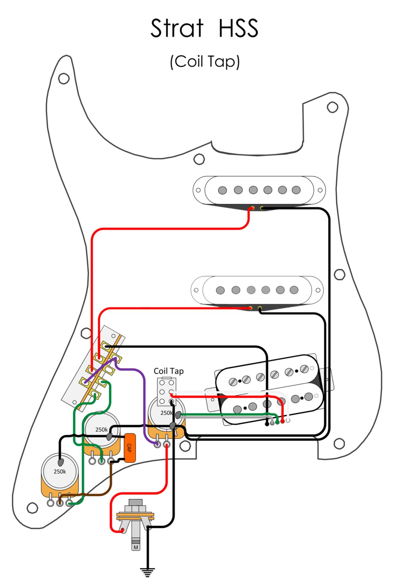 Wiring Diagrams - Blackwood Guitarworks   Spli Hss Guitar Wiring Diagram Coil      Blackwood Guitarworks