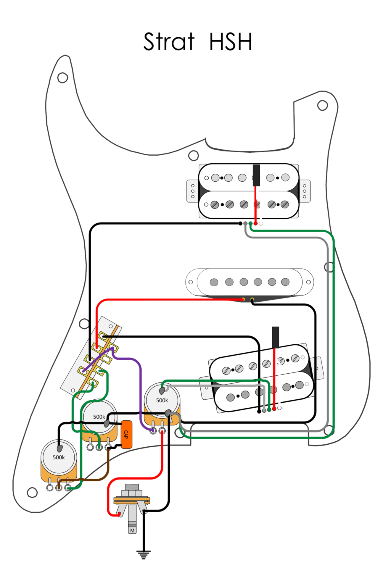 Wiring Diagrams - Blackwood Guitarworks | Electric Guitar Hsh Wiring Diagram |  | Blackwood Guitarworks
